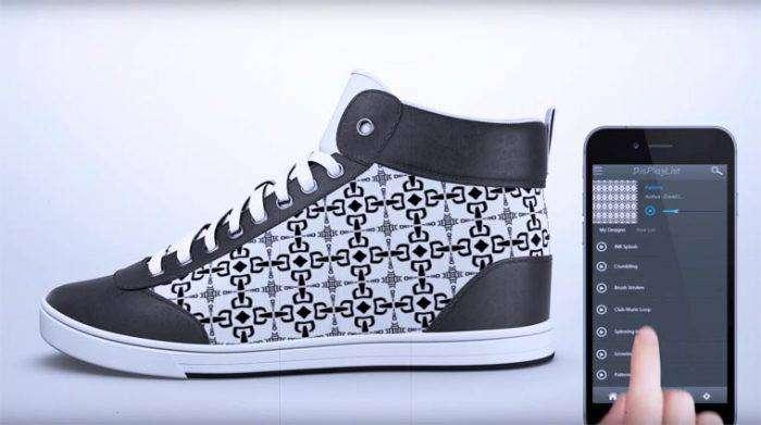 Дизайн необычных кроссовок «ShiftWear» можно менять с помощью специального мобильного приложения.