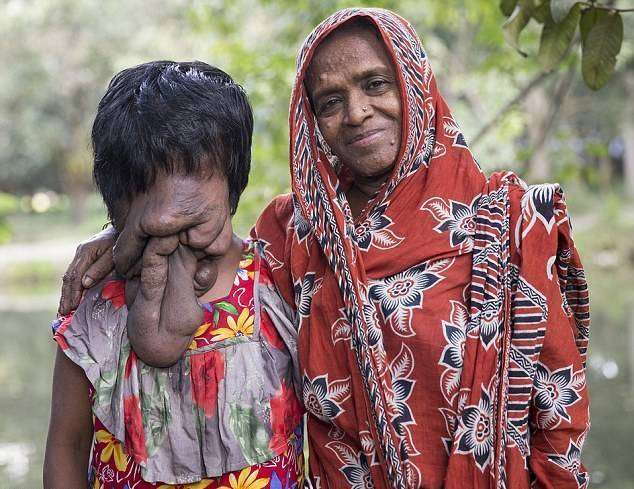 Khatoon with mom