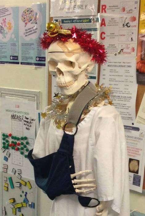 Скелет к Новому Году готов!