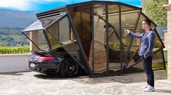 Складной прозрачный гараж GazeBox (5 фото)