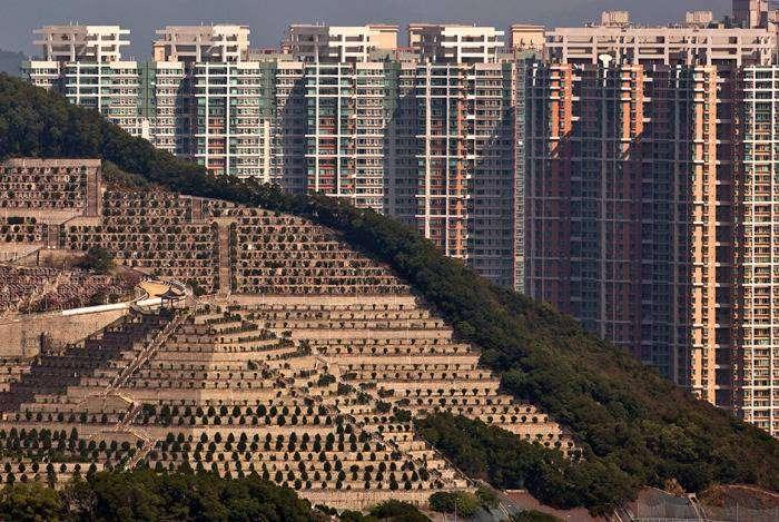 Как власти Гонконга решают проблему с захоронениями (15 фото)