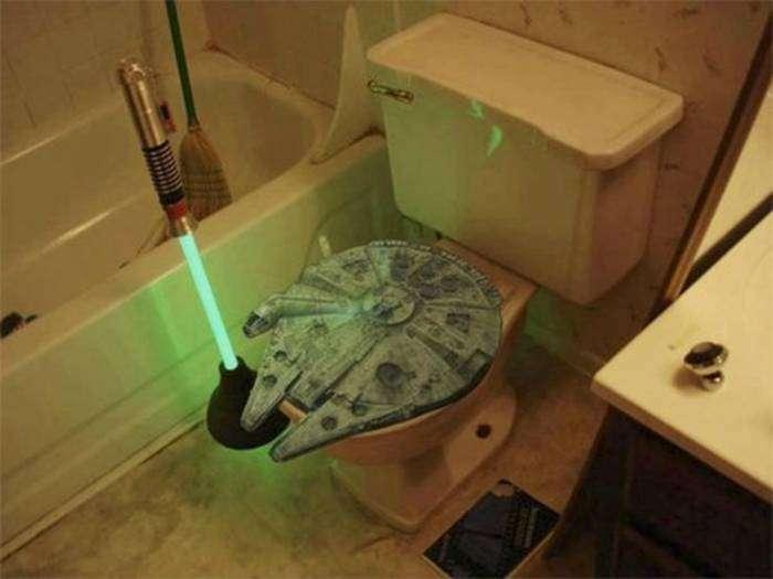 Туалет настоящего звездного воина.