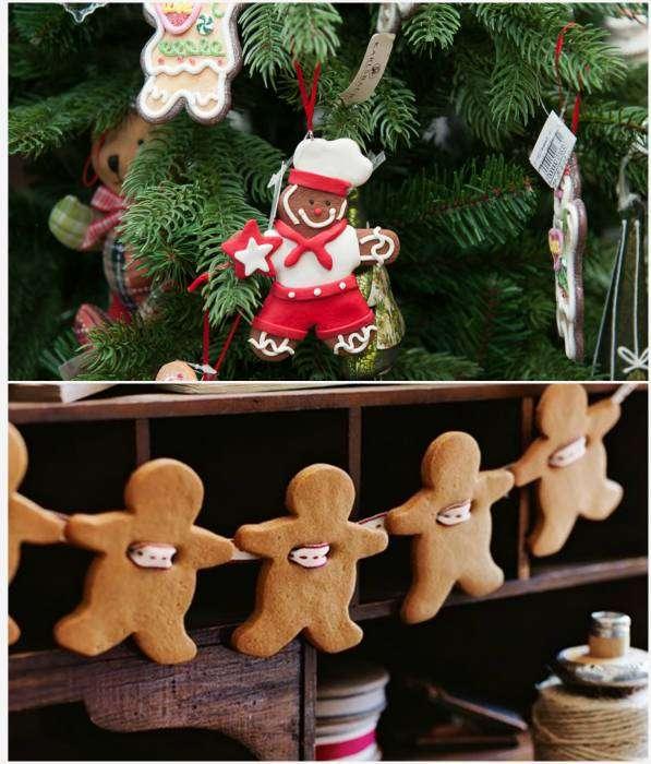 Из праздничного печенья можно сделать новогоднюю гирлянду или необычные елочные украшения.