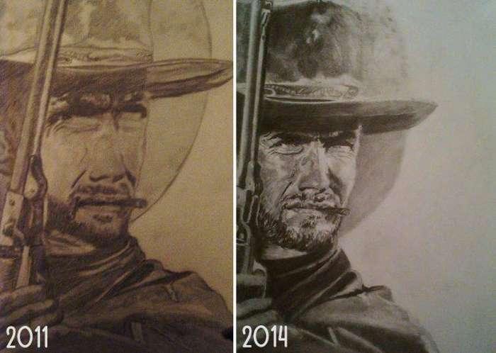 Отличный результат! до и после, рисунок