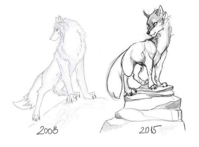 2008 год - 3 часа, 2015 - 15 минут до и после, рисунок