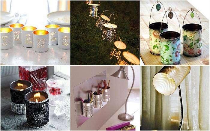 Декор из банок: 18 полезных и забавных идей