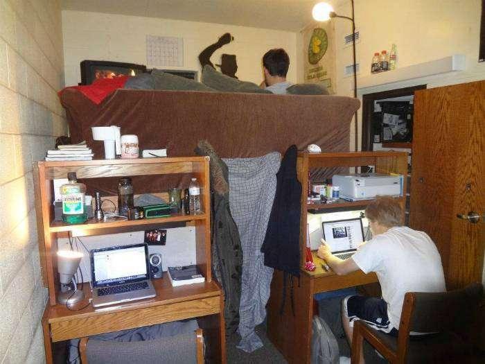 Дизайн однокомнатной квартиры по-студенчески.