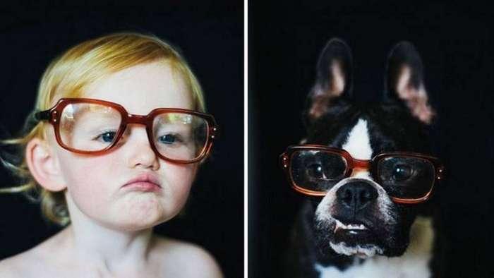 Счастливы вместе — фотоистория о взрослении девочки и щенка
