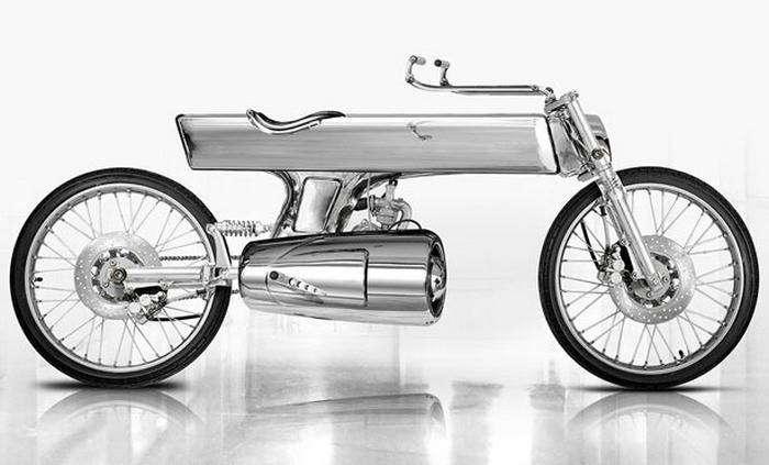 Мотоцикла EVE - хромированный футуризм.
