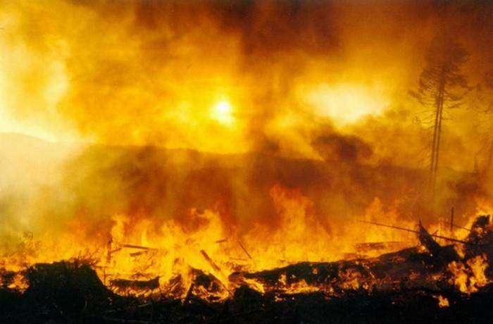 Возникнут многочисленные пожары.
