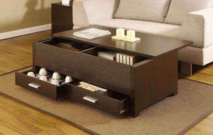 Журнальный столик с функциями шкафа