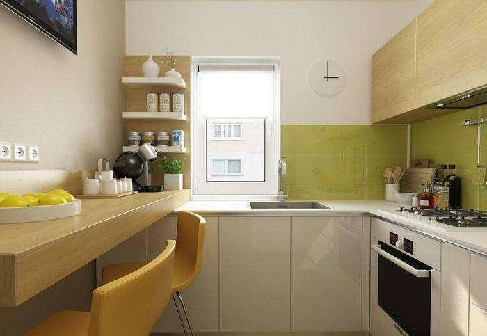 Маленькая кухня: 6 квадратных метров