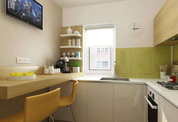 Удобная планировка маленькой кухни