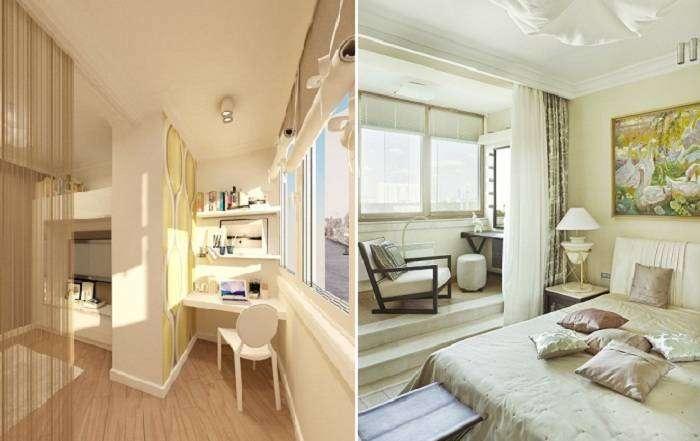20 удобных и практичных вариантов совмещения лоджии с комнатой