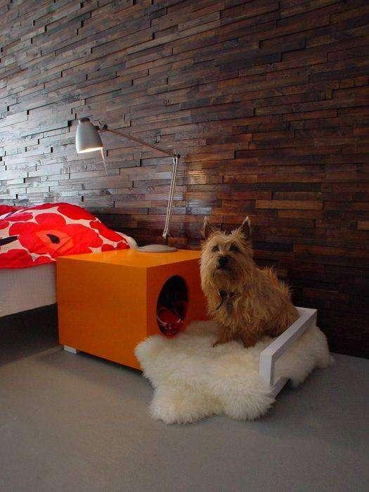 Прикроватный столик-будка с террасой Hunde Hus, бренда Madshome