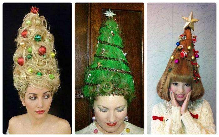 Безумные новогодние причёски
