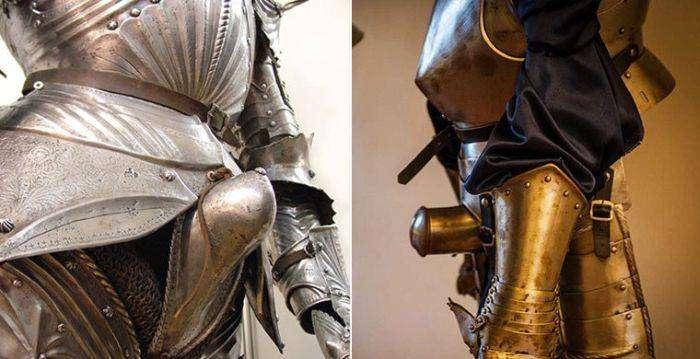Как справляли нужду рыцари в доспехах? (4 фото)