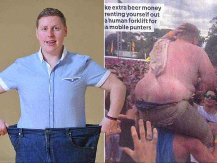 Полный парень решил сесть на диету (7 фото)