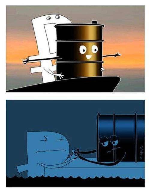 Стоимость нефти марки Brent упала ниже 31 доллара за баррель (10 фото)