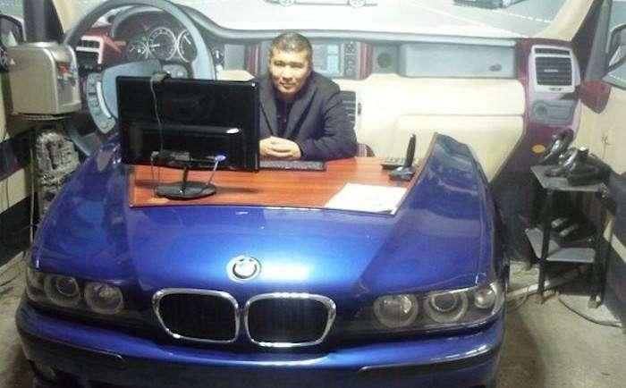 Предметы интерьера, изготовленные на казахской авторазборк (8 фото)