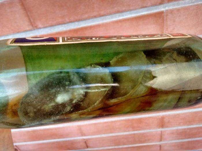 Бутылка вермута пролежала 80 лет забытой в шкафу (7 фото)