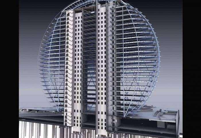 Круговой небоскреб (22 фото)