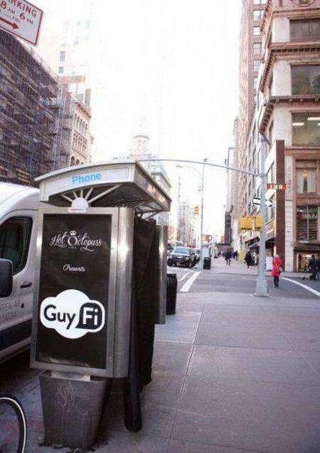 В центре Нью-Йорка установили кабинку для мастурбации (3 фото)