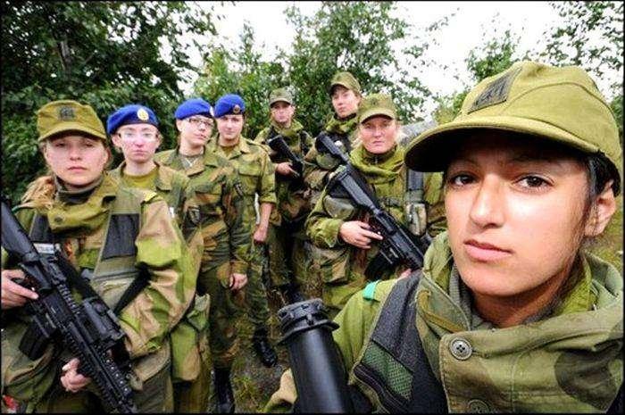 Равенство полов на примере норвежской армии (4 фото)