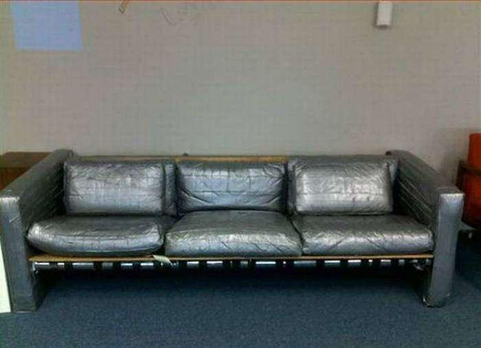 Бюджетная перетяжка дивана.