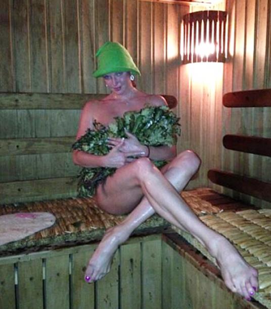 Анастасия Волочкова - поклонница русской бани