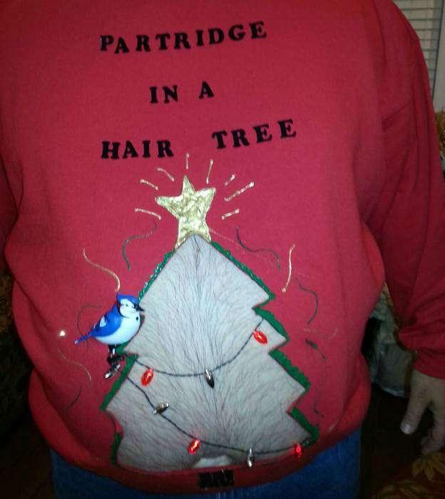 Откровенный свитер.