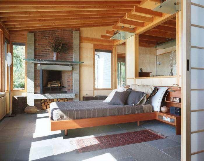 Уютная и светлая спальня в нестандартном современном стиле - возможность самовыражения при оформлении личного пространства.