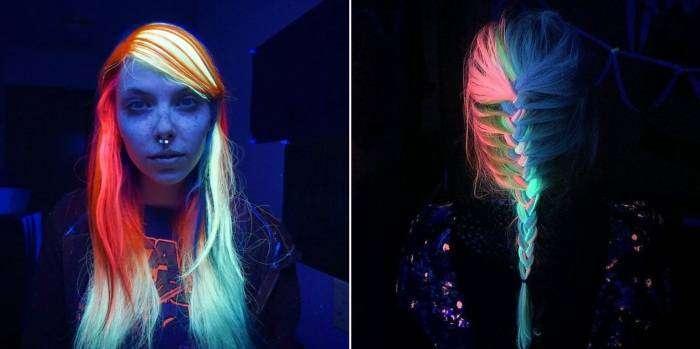 Волосы, светящиеся в темноте, - новый тренд, который «взорвал» интернет.