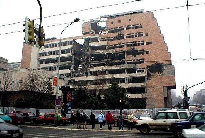Разрушенные здания Белграда (Сербия)