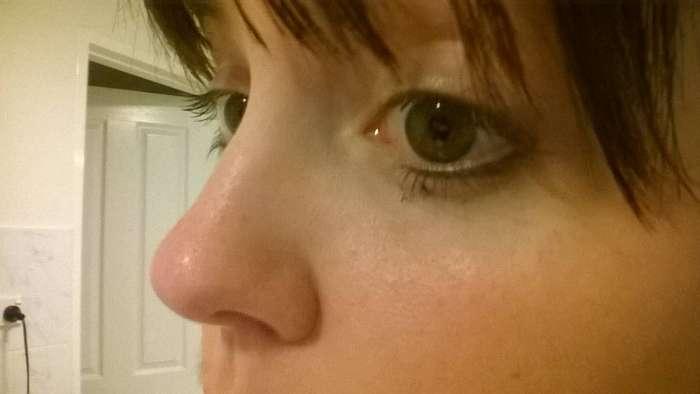 Мне все таки удалось почистить нос от черных точек!