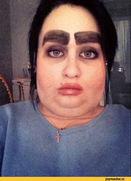 макияж,красота страшная сила