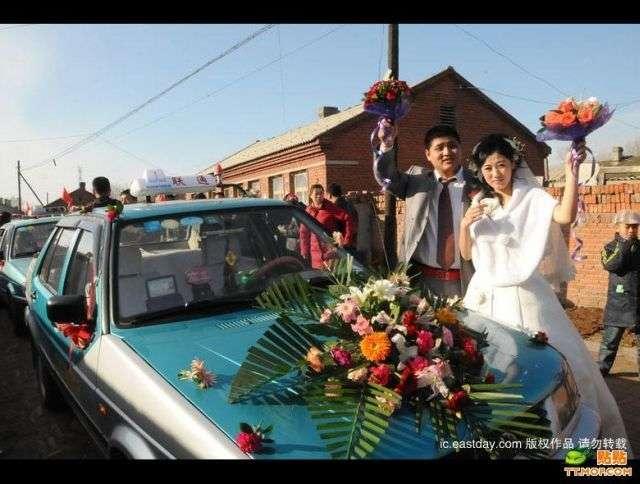 Самый большой свадебный кортеж (8 фото)