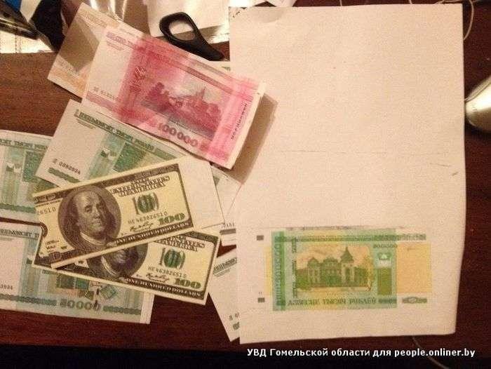 В Белоруссии учительница рассчиталась напечатной купюрой (3 фото)