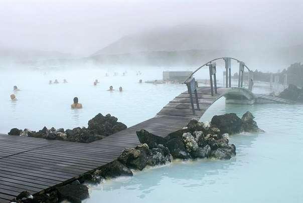 Голубая лагуна в Исландии (9 фото)