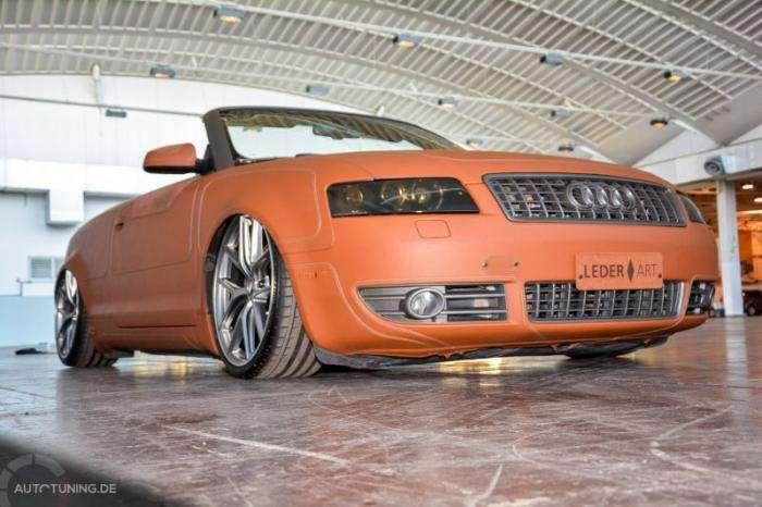 Audi S4 Cabrio в кожаном одеянии (18 фото)
