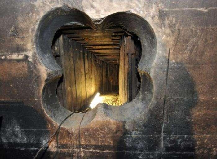 Голливудское ограбление банка - через подземный тоннель (6 фото)