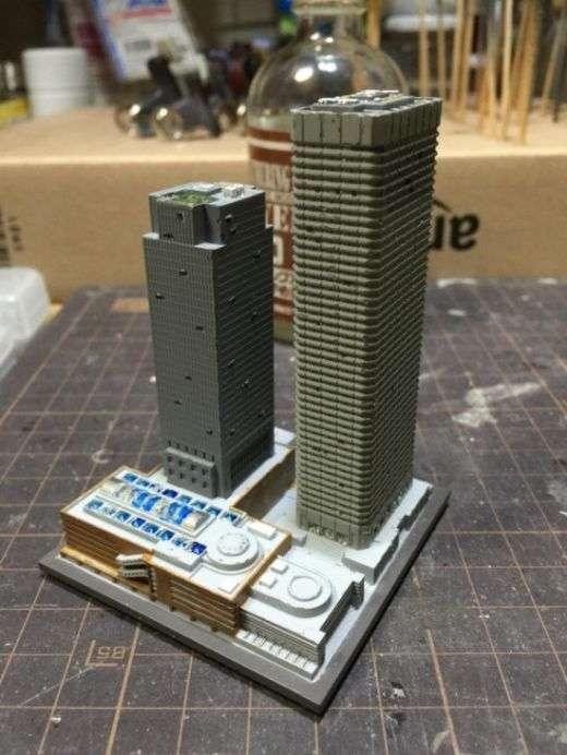 Фотоотчет создания диорамы затопленного города (10 фото)