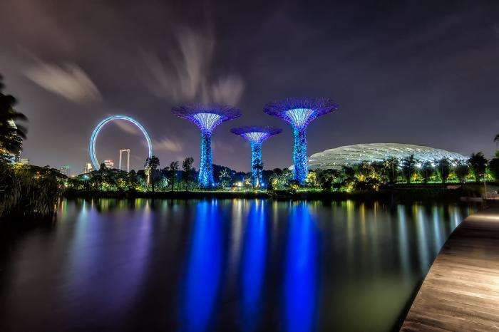Ночной Сингапур (7 фото)