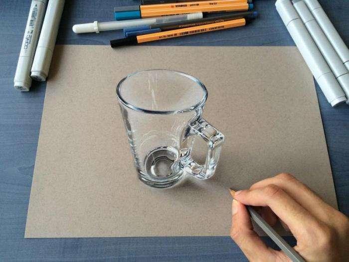 Реалистичные 3D-рисунки 19-летнего парня (10 фото)