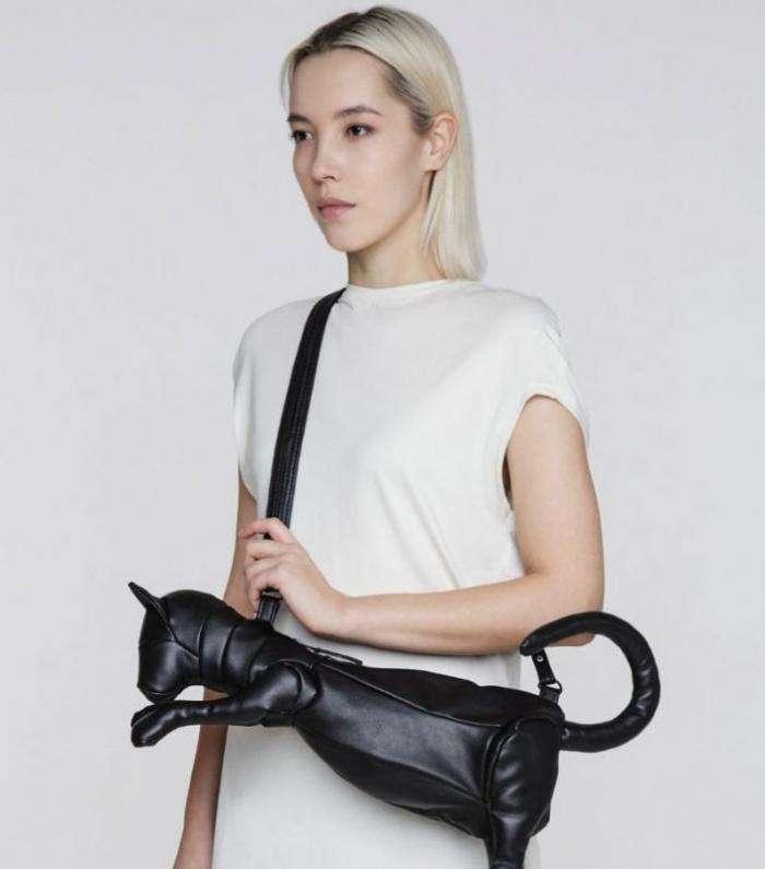 Женская сумочка, в которой удобно переносить кошку (5 фото)