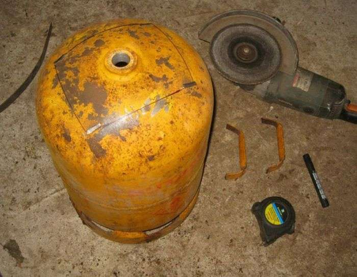 Самодельные печь и бойлер из газового баллона (29 фото)