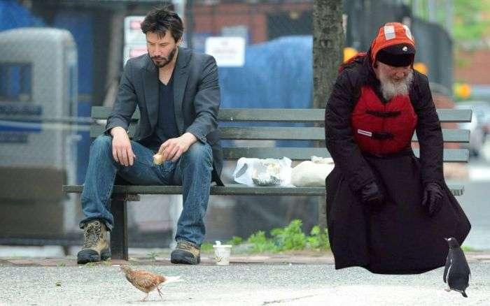 Фото патриарха Кирилла и пингвинов стало поводом для фотожаб (15 фото)