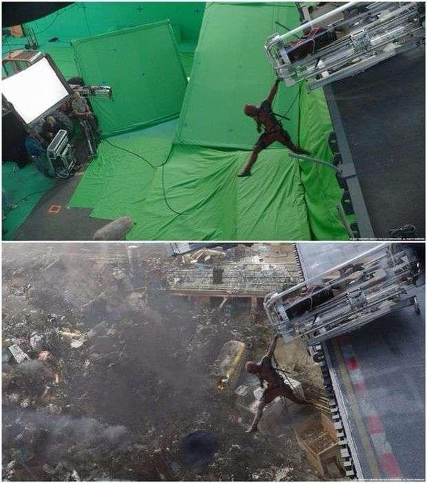 Как создавадись спецэффекты «Дэдпула» (10 фото)