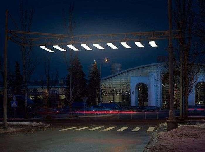 В Москве установили первую «воздушную зебру» (2 фото)