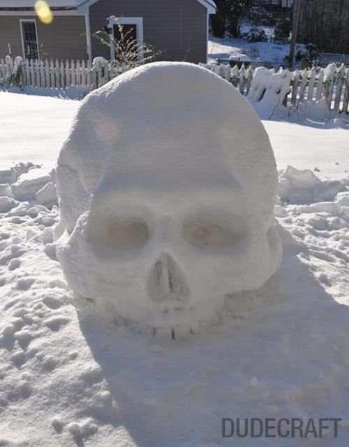 Необычный снеговик (9 фото)